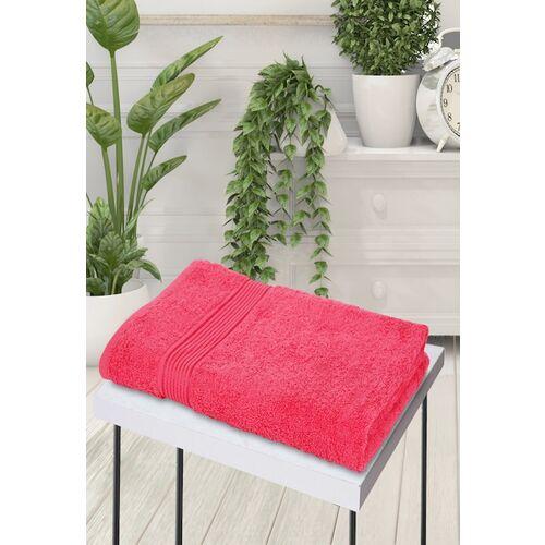 BIANCA Unisex Pink Solid 380 GSM Bath Towel