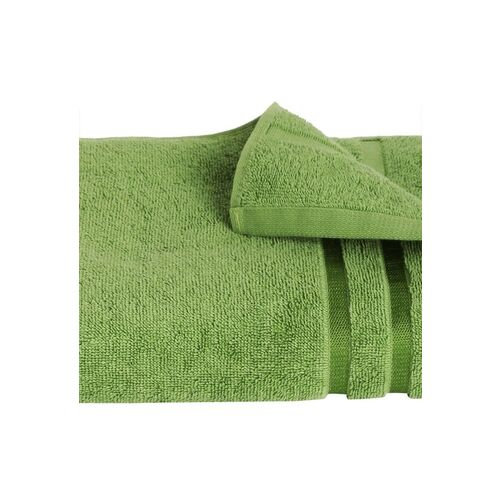 SPACES Green Solid 500 GSM Pure Cotton High Absorbency Bath Towel