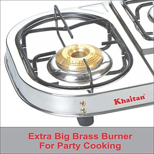 khaitan Manual Gas Stove 3 Burner Draw