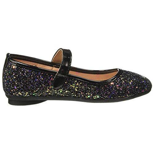 Barbie Girl's Black Indian Shoes - 1 UK/India (33 EU)(STY-18-19-000715)