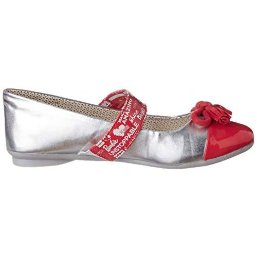 Barbie Girl's BBPGBE2093 Silver Ballet Flats - 11(BBPGBE2093, Silver)