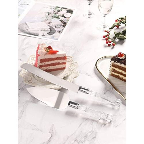 Syga Stainless Steel Cake Knife and Cake Server Set, Multicolour