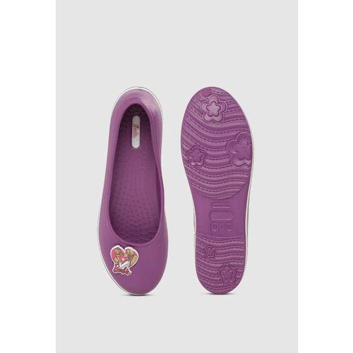 Barbie Girls Purple Solid Ballerinas