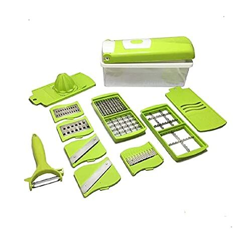 Dice KNK Marketing Advance 12 in 1 Multi-Purpose Vegetable & Fruit Grater, Slicer, Cutter, Vegetable & Fruit Chopper (1 Chopper Set)