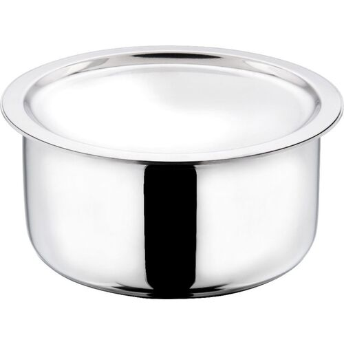 Vinod Cookware Platinum Triply Induction Friendly Stainless Steel Tope With Lid, 28 cm, 7.5 Ltr Tope with Lid 7.5 L capacity 28 cm diameter(Stainless Steel,