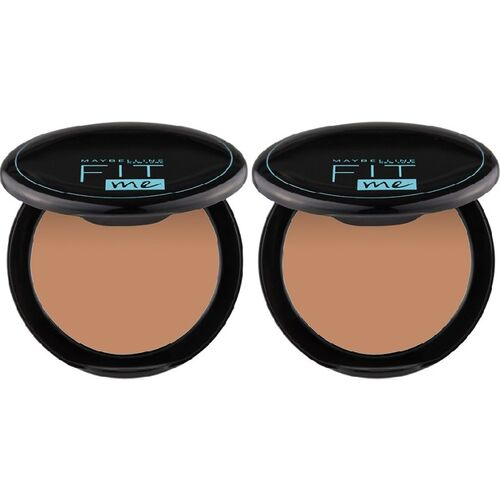 MAYBELLINE NEW YORK Fit Me Compact Powder - 310, 8 g (Pack of 2) Compact(Shade 310, 16 g)