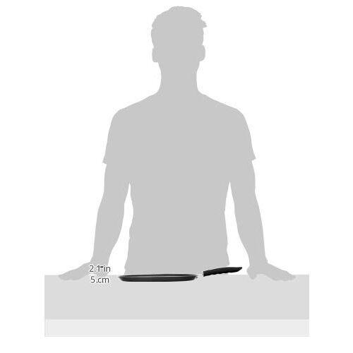 Amazon Brand - Solimo Non Stick Tawa (29 cm, Hammertone finish, 3 coat, 2.9mm thickness), Aluminium, Black