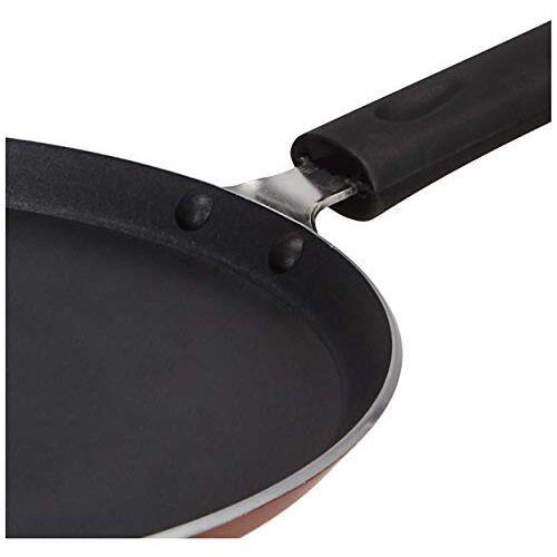 Amazon Brand - Solimo Non-Stick Tawa with 2-Way Non-Stick Coating, 26cm (Induction and Gas Stove Compatible), Aluminium, Black