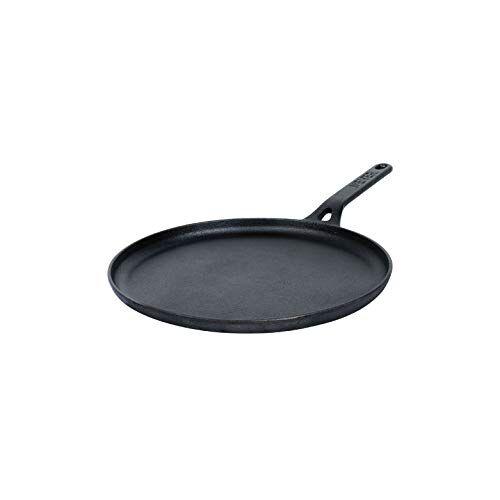 Meyer Pre Seasoned Cast Iron Dosa Flat Tawa (Black, 24cm)