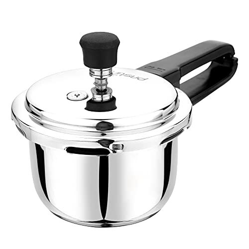 Pristine spc1.5 Induction Base Stainless Steel Pressure Cooker, 1.5L, Silver