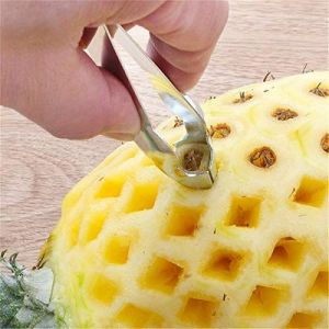 ANADIK (DEVICE) Stainless Steel Convenient Seed Remover Pineapple Eye Peeler (1 Piece)