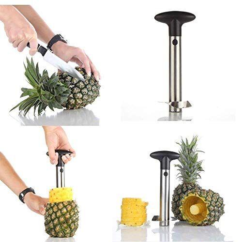 Shopello Stainless Steel Pineapple Cutter and Fruit Peeler Corer Slicer Kitchen Knife, Pineapple Cutter and Slicer, Pineapple Peeler and Cutter, Pineapple