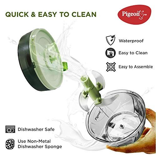 Pigeon by Stovekraft Handy and Compact Chopper Pro Standard with 3 Blades for effortlessly Chopping Vegetables and Fruits for Your Kitchen