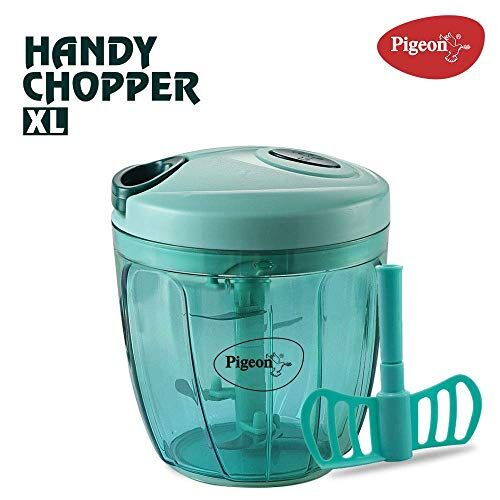 Pigeon Handy Chopper 14077 for Chopping, Mincing and Whisking with 5 Stainless Steel Blades and 1 Plastic Whisker (900 ml)