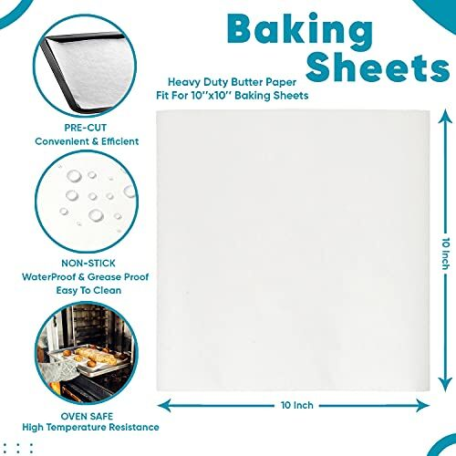 RANUR PHOENIX Butter Paper Sheets and Silicon Brush non stick, Grease Proof Baking Paper, Used in Baking, Cooking, Wrapping, Grilling, Steaming, Frying Color