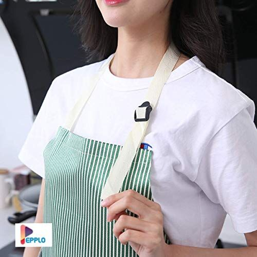 pepplo 1 PCS Cooking Apron Chef Apron,Waterproof and Oil-Proof Cooking Kitchen Apron with Pockets, Suitable for Men and Women, Coral Velvet Towel Stitched