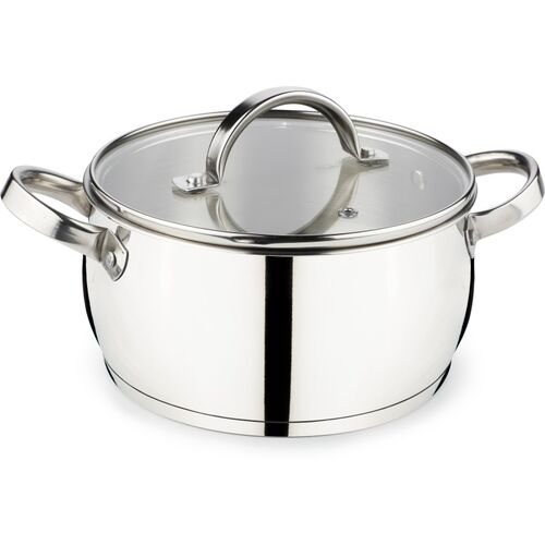 Jindal ARC Home Chef CASSEROLE WITH GLASS LID (20 CM DIAMETER/ 2500 ML) Cook and Serve Casserole(2500 ml)