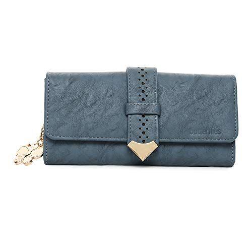 Butterflies Blue PU Women's Wallet (WA5)