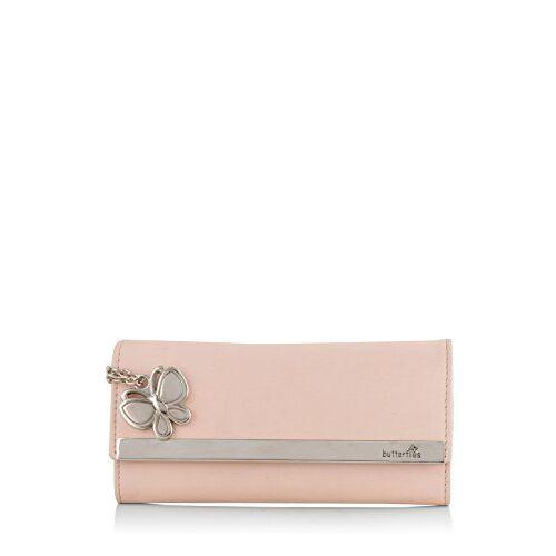 Butterflies Peach Synthetic Women's Wallet (BNS 2376PCH)