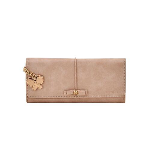 Butterflies brown leatherette (pu) wallet