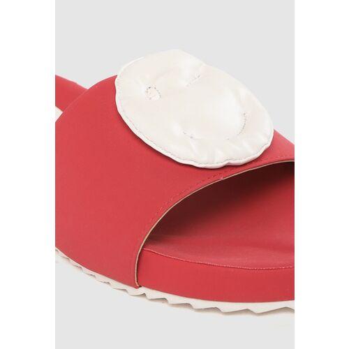 Kook N Keech Women Red & White Applique Detail Open Toe Flats