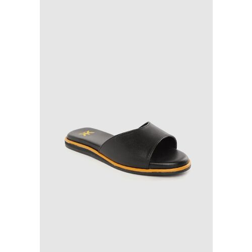 Kook N Keech Women Black Solid Open Toe Flats