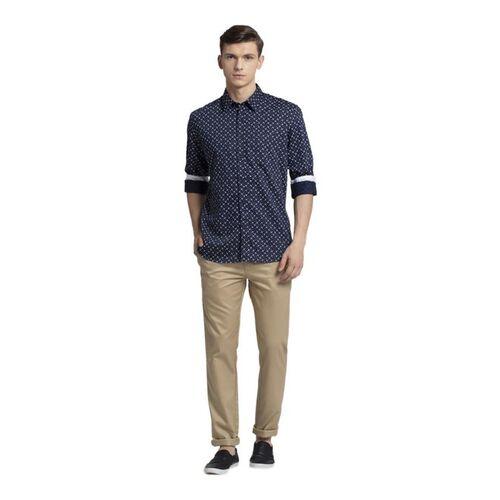 Parx Blue Printed Shirt