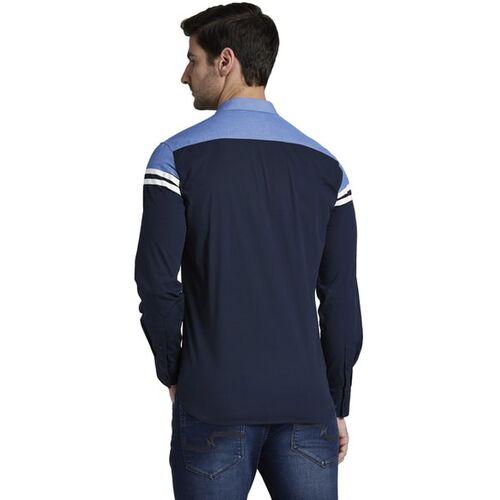 Parx Slim Fit Shirt with Contrast Stripes