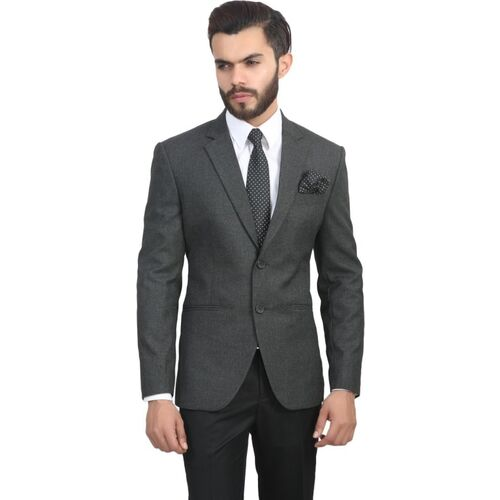MANQ Solid Single Breasted Formal, Wedding Men Blazer(Grey)