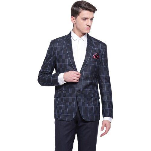 MANQ Checkered Single Breasted Party, Formal Men Blazer(Multicolor)