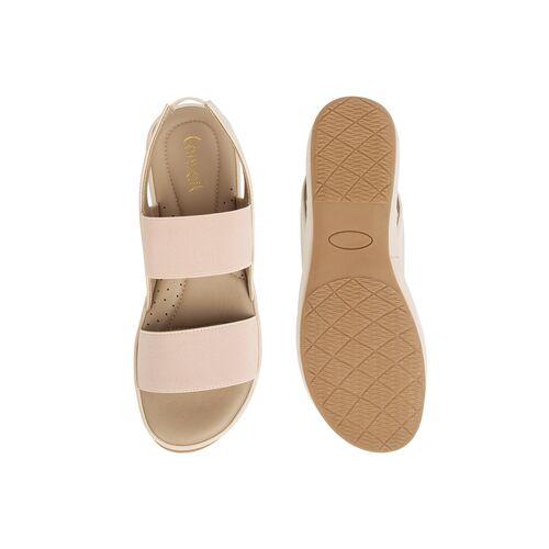 Catwalk beige slip on sandals