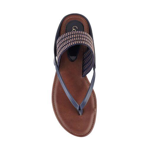 Catwalk blue synthetic tstrap sandals