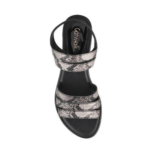 Catwalk black ankle strap sandal