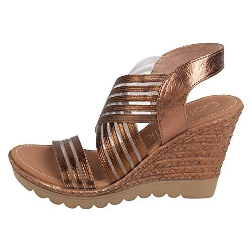 Catwalk Women's Bronze Wedge Sandals Fashion