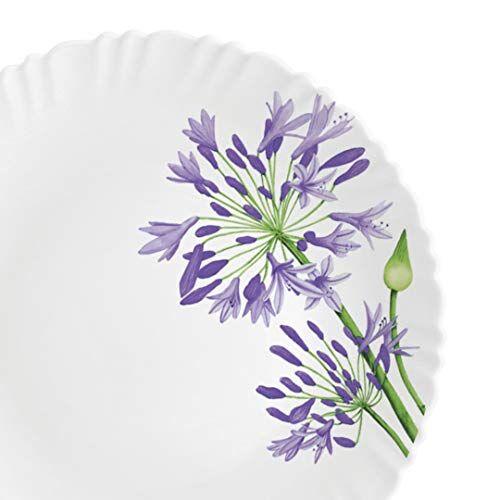 Cello Opalware Dazzle Purple Verbena Dinner Set