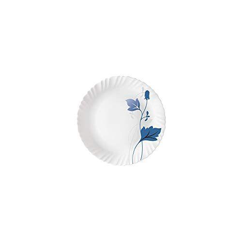 Larah by Borosil Opalware Dinner Set, 19-Pieces, White