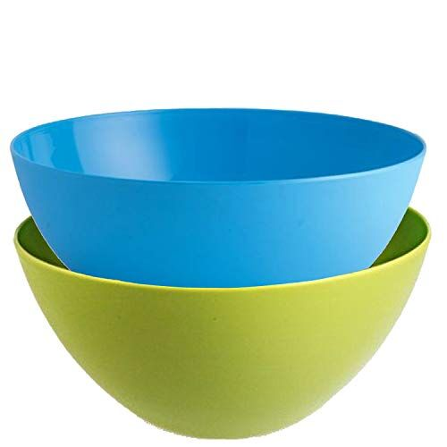 Kuber Industries Plastic Microwave Safe 3 Pieces Mixing Bowl Set- 1000 ML (Multi) - CTKTC037571
