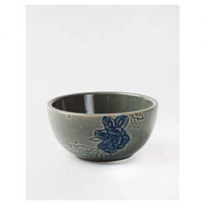 Fabindia Mudit Grey & Blue Dinner Bowl (170 ml) - Set of 1
