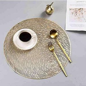 Diverse Home Cloud PVC Round PLACEMATS, Cutwork Design/Dining Table MATS/Dressing Table MATS/Bed Side Table MATS
