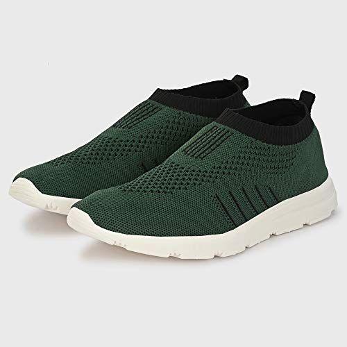 Bourge Green Mesh Vega Pearl-z2 Running Shoes