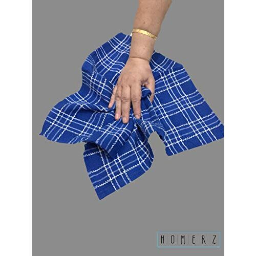Homerz Premium Kitchen Cloth & Home Multipurpose Cloth, Kitchen Napkin, Cleaning Cloth, Chapati Packing Cloth |18 x 18 inch Guaranteed Exact Size | 100% Cotton