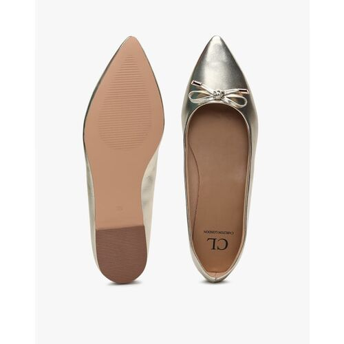 Carlton London Pointed-Toe Ballerinas with Bow