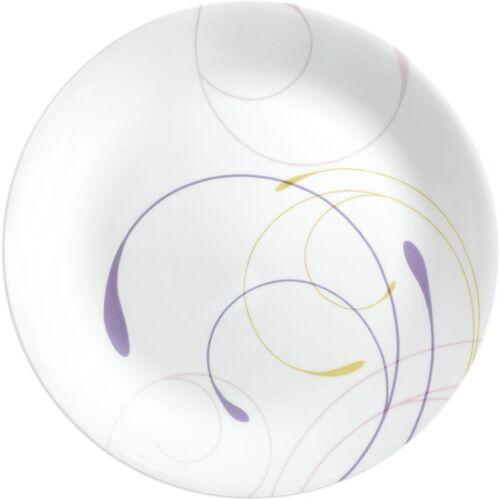 CORELLE Livingware Plus Violet Dance Small Plate Pack Of 6 Quarter Plate(6 Quarter Plate)