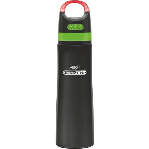 MILTON Boom 900 700 ml Flask(Pack of 1, Black, Orange, Steel)