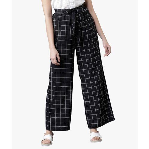 Tokyo Talkies Regular Fit Women Black Trousers