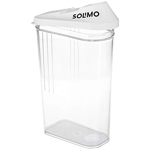 Amazon Brand - Solimo Plastic Storage Containers with Sliding Mouth (Set of 6, 1100ml), White