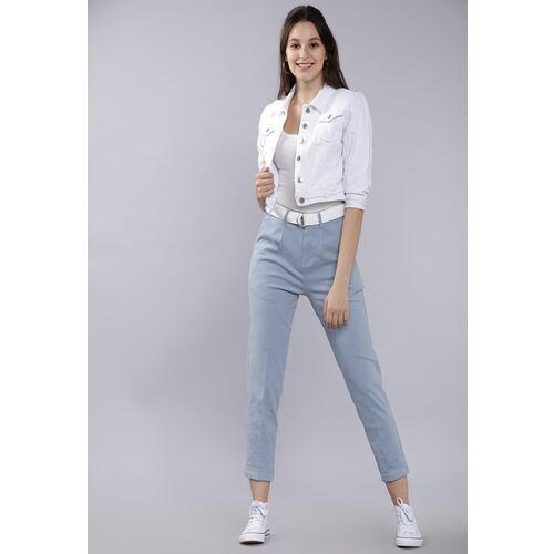 Tokyo Talkies Regular Fit Women Blue Trousers