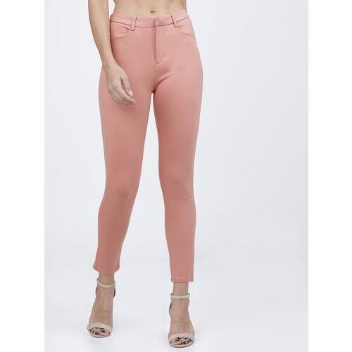 Tokyo Talkies Slim Fit Women Pink Trousers