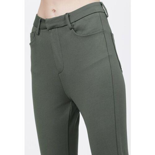 Tokyo Talkies Women Olive Slim Fit Regular Trousers