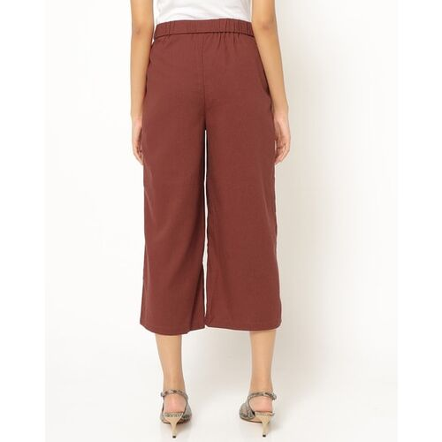 Only Pleated Culottes with Insert Pockets